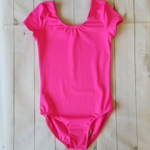 Balera Pink Short Cap Sleeve Dance Leotard LC